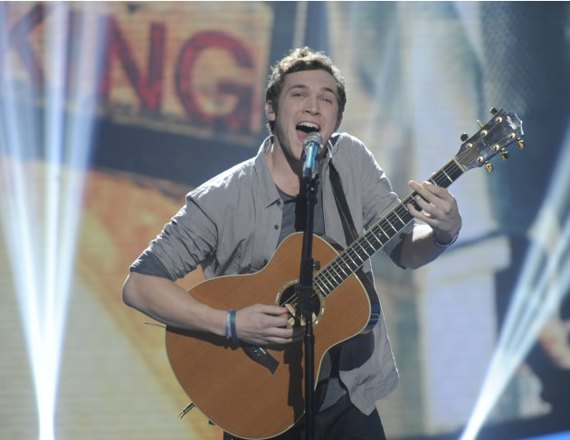 "Phillip Phillips performs ""Movin' Out"" by Billy Joel on ""American Idol."""