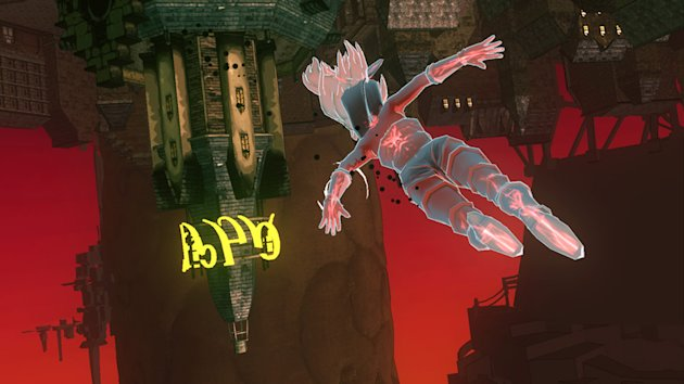 This image provided by Sony shows action from the game &quot;Gravity Rush&quot; for the PlayStation Vita. (AP Photo/Sony)