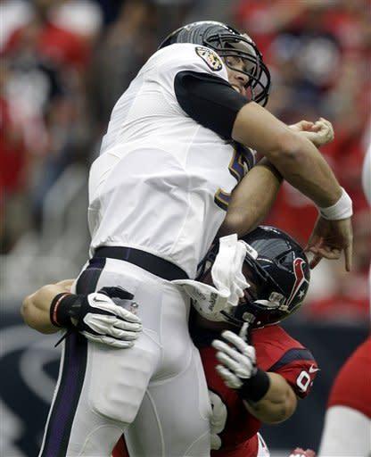 Texans dominate Ravens 43-13