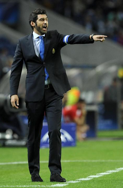 Porto's coach Paulo Fonseca reacts on the touchline during the Champions League group G soccer match between FC Porto and Atletico de Madrid Tuesday, Oct. 1, 2013, at the Dragao stadium in Porto, nort