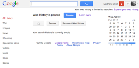 How to remove your Google Web History and disable tracking in the future