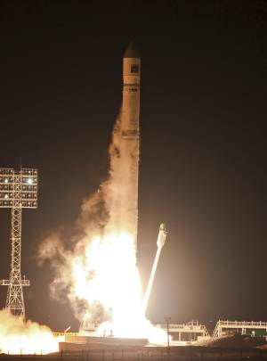 In this Wednesday, Nov. 9, 2011 file photo, the Zenit-2SB rocket with Phobos-Grunt (Phobos-Ground) blasts off from its launch pad at the Cosmodrome  Baikonur, Kazakhstan. Russia's space agency says a probe bound for a moon of Mars that instead got stuck in Earth's orbit will plummet down to Earth next month.The agency said Friday Dec. 16, 2011 the unmanned Phobos-Ground probe that got stranded after its Nov. 9 launch will come crashing down between Jan. 6 and Jan. 19. (AP Photo/Oleg Urusov, pool)