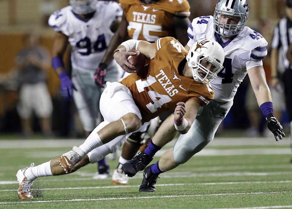 Texas QB Ash leaves game with head injury