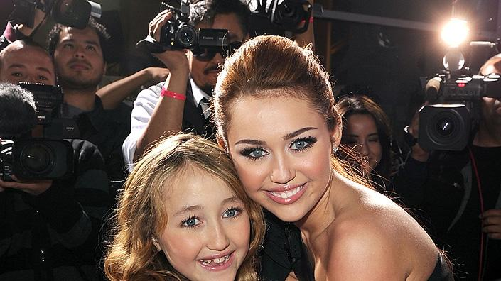 The Last Song LA Premiere 2010 Noah Cyrus Miley Cyrus
