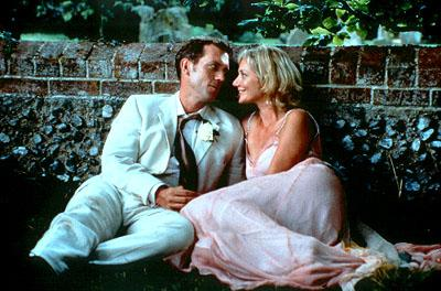 Hugh Laurie and Joely Richardson in USA Films' Maybe Baby 2001 Photo: Sally Miles