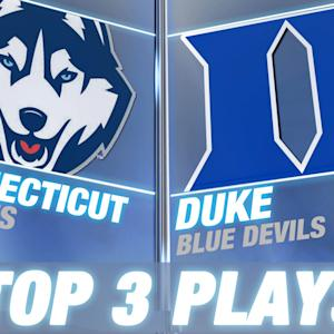 Connecticut vs Duke: Top 3 Plays of the Game