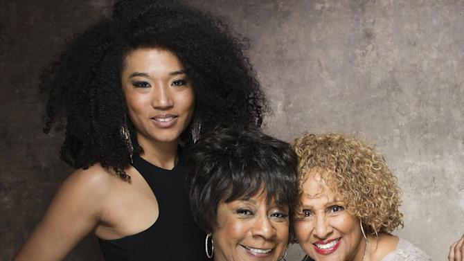 "FILE - This Jan. 21, 2013 file photo shows singers, from left, Judith Hill, Merry Clayton and Darlene Love from the film ""20 Feet from Stardom"" at the 2013 Sundance Film Festival at the Fender Music Lodge in Park City, Utah. Hill, Clayton, Love and Lisa Fischer are set to perform ""The Star-Spangled Banner"" before the 100th Rose Bowl game on Jan. 1 in Pasadena. (Photo by Victoria Will/Invision/AP, File)"