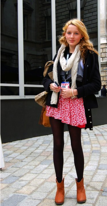 Layering with Tights