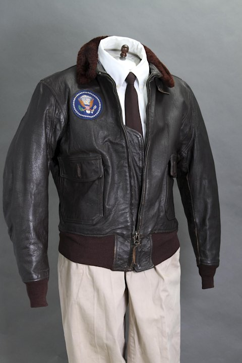 The former President's Air Force One leather bomber jacket fetched more than $500,000 USD (£370,000) (PA)