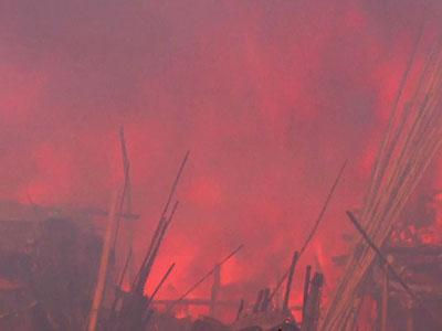 Raw: Nearly 100 Homes Destroyed in Fire