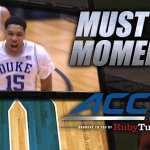 Duke's Freshman Sensation Okafor Spins for Power Dunk | ACC Must See Moment