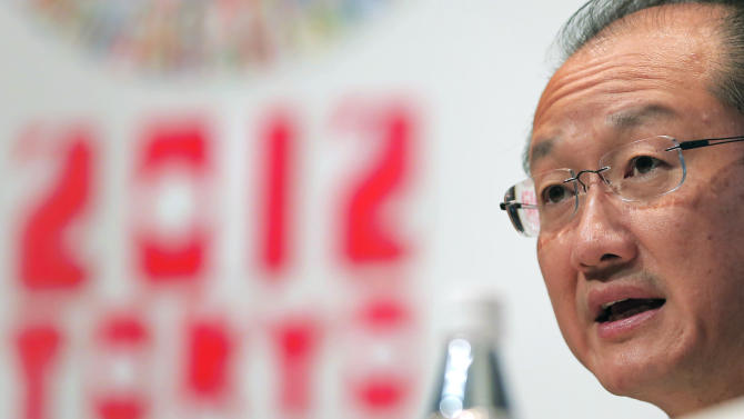 World Bank President Jim Yong Kim speaks during a news conference at the  International Monetary Fund (IMF) and World Bank's annual general assembly in Tokyo, Thursday, Oct. 11, 2012. (AP Photo/Itsuo Inouye)