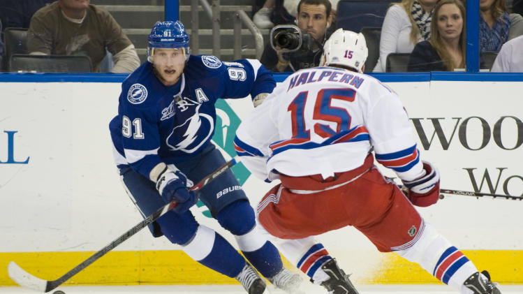 NHL: New York Rangers at Tampa Bay Lightning