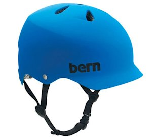 blue Bern cycle helmet