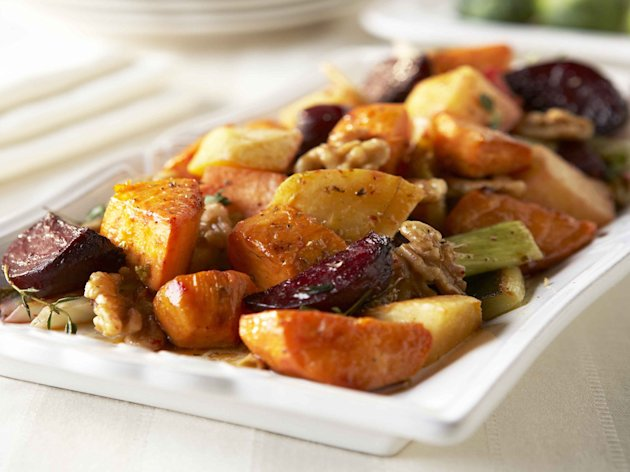 Roasted Vegetables with Walnut Vinagrette