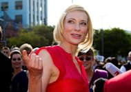 "Actress Cate Blanchett arrives for the world premiere of ""The Hobbit"" in Wellington on November 28. The movie's cast received rock star reception on Wednesday, cheered on by 100,000 screaming fans"
