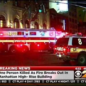 1 Dead In Manhattan Apartment Fire