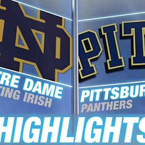 Notre Dame vs Pittsburgh | 2014-15 ACC Men's Basketball Highlights