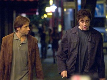 David Duchovny and Benicio Del Toro in DreamWorks Pictures' Things We Lost in the Fire
