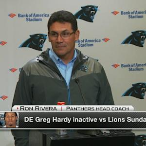 Carolina Panthers head coach Ron Rivera on Hardy: 'This is a very fluid situation'