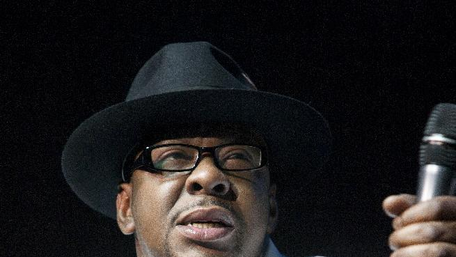 FILE - In this Feb. 18, 2012 file photo, singer Bobby Brown, former husband of the late Whitney Houston performs with New Edition at Mohegan Sun Casino in Uncasville, Conn. A judge sentenced Brown to 55 days in a Los Angeles jail Tuesday Feb. 26, 2013 after the singer pleaded no contest to a drunken driving charge and driving on a suspended license. (AP Photo/Joe Giblin, file)