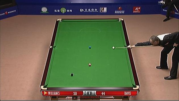 Davis pots off attempted snooker