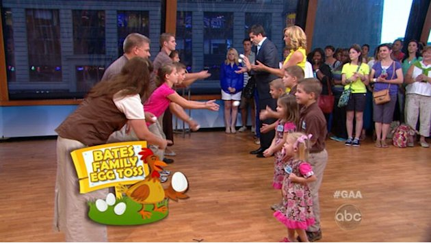 The Bates Family Take Part in First Egg Toss in NYC