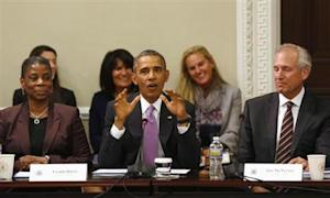 U.S. President Barack Obama delivers remarks at a meeting of his Export Council in Washington