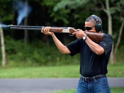 Photo Takes Aim at Obama Skeet Shooting Mystery