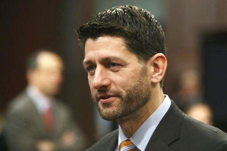 Ryan arrives to hold a committee hearing on the topic of U.S. economic growth at the U.S. Capitol in Washington