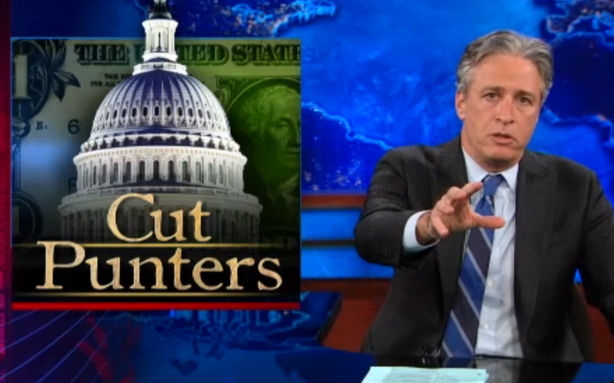 Jon Stewart Redefines Congressional Back-Patting in a Time of Furloughs