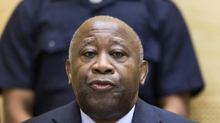 Former Ivory Coast President Laurent Gbagbo attends a confirmation of charges hearing at the International Criminal Court (ICC) in The Hague, Netherlands, Tuesday Feb. 19, 2013.  ICC prosecutors will begin laying out a summary of their evidence to allow judges to decide if it is strong enough to merit putting Gbagbo on trial for crimes against humanity allegedly committed after disputed 2010 presidential elections. (AP Photo/Michael Kooren, Pool)