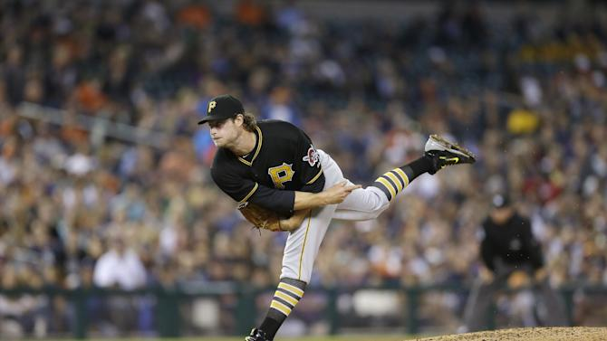 Pittsburgh Pirates starting pitcher Gerrit Cole throws during the seventh inning of a baseball game against the Detroit Tigers, Tuesday, June 30, 2015, in Detroit. (AP Photo/Carlos Osorio)