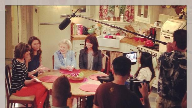 Betty White Yahoo! TV Instagram: Next... Interview with On the Red Carpet! -Betty #bettywhite #hotlive #hotincleveland #tvland #setvisit