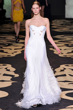 Angelina Jolie Versace wedding dress