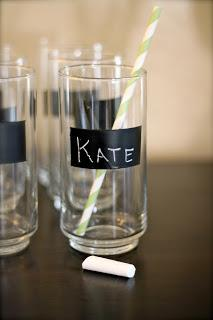 Label-friendly Chalkboard Cups