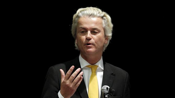 Dutch Parliamentarian Geert Wilders speaks at the Muhammad Art Exhibit and Contest sponsored by the American Freedom Defense Initiative in Garland, Texas