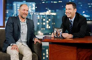 "Woody Harrelson ""Could Barely Stand Up"" Due to Hangover at Movie Premiere, He Tells Jimmy Kimmel"
