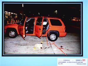 State evidence photo in first-degree murder trial of Michael Dunn in Jacksonville