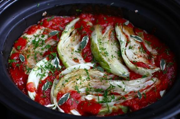 Slow-Cooker Cabbage Rolls with Brown Rice and Herbs
