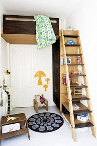 How great is this ladder? You can climb it and decorate it.