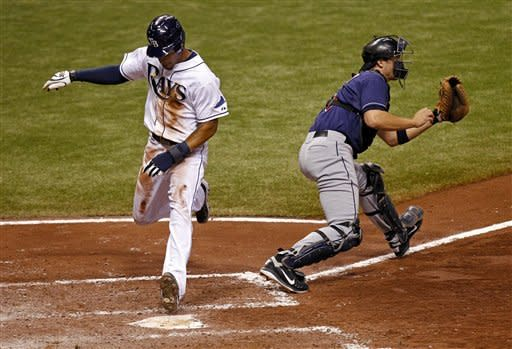 Moore walks 5 in Rays' win over Cleveland