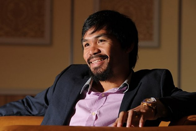 Manny Pacquiao during an AFP interview in Macau on July 27, 2013. The Philippine great is harbouring thoughts of running for president in his beloved homeland when he finally hangs up his gloves, he revealed to AFP in an exclusive interview