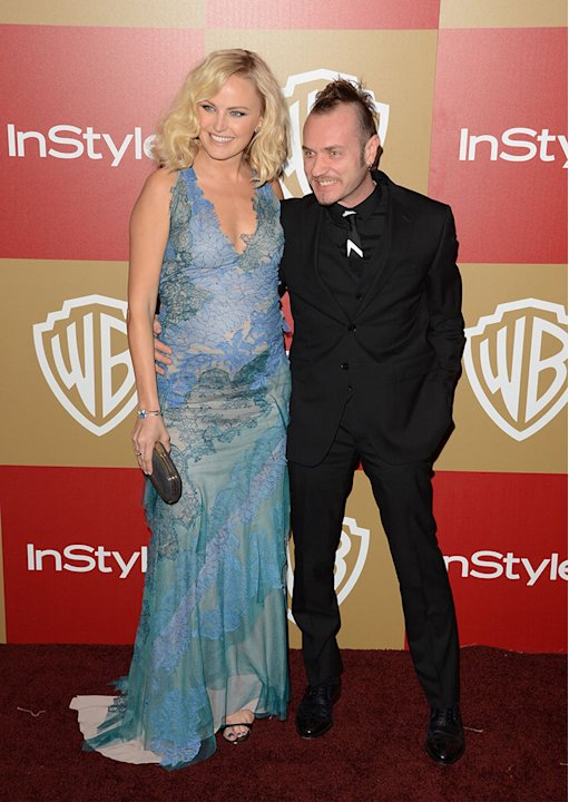 14th Annual Warner Bros. And InStyle Golden Globe Awards After Party - Arrivals: Malin Ackerman and Roberto Zincone