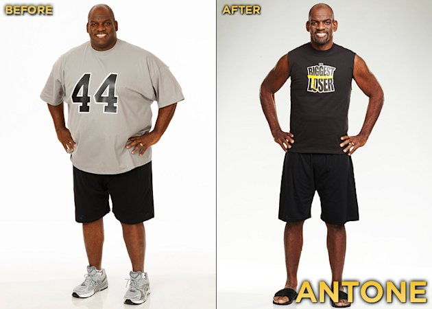 "Antone Davis, a 44-year-old former NFL player, is the Season 12 runner-up of ""Biggest Loser."" He started the competition at 447 lbs. and lost a total of 202 lbs."