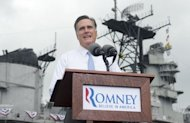 US Republican presidential candidate Mitt Romney announces at a campaign rally in Norfolk, Virginia. Romney has unveiled deficit hawk congressman Paul Ryan as his running mate Saturday, in a bid to revive his flagging campaign to oust President Barack Obama