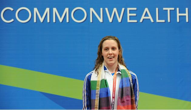 Scottish swimmer Hannah Miley gold medal