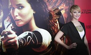 """Jennifer Lawrence attends the premiere of the film """"The Hunger Games: Catching Fire"""" in New York"""