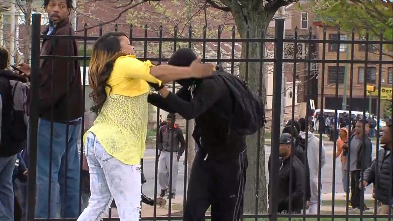 Baltimore Riots: Mom Smacks Son for Taking Part in Violence