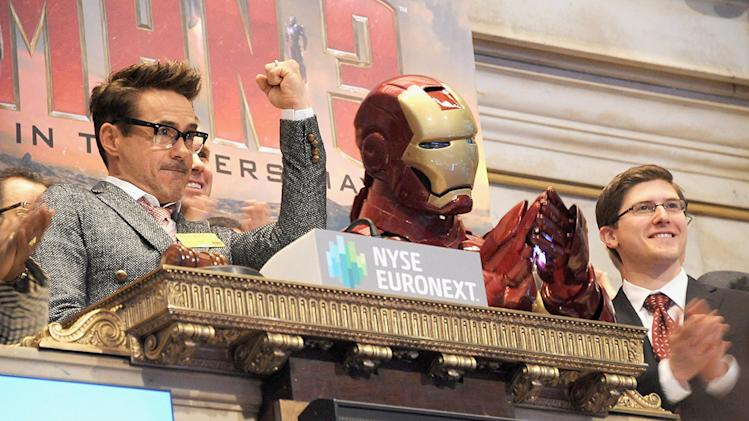 Robert Downey Jr. Rings The NYSE Opening Bell In Celebration Of